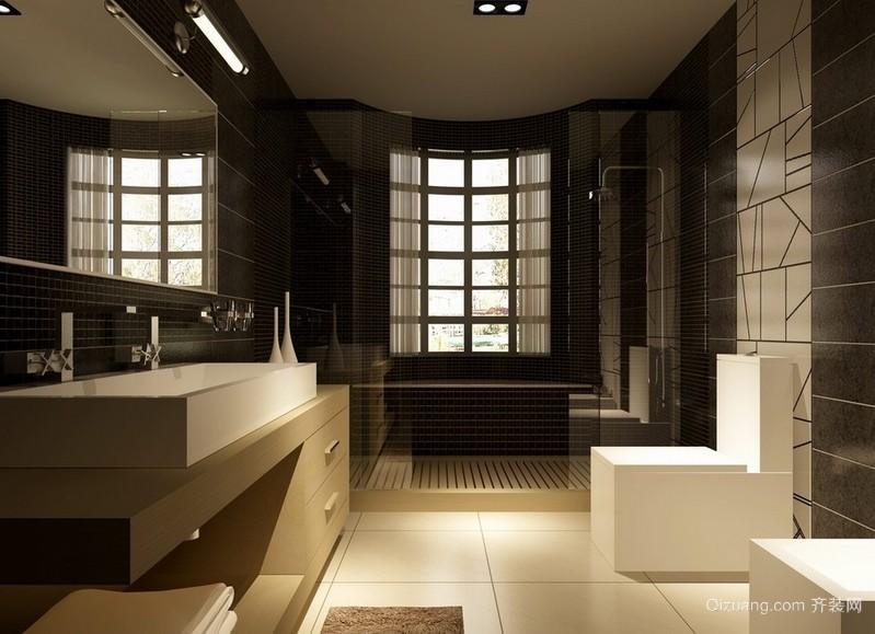 大型别墅卫生间后现代风装修设计效果图