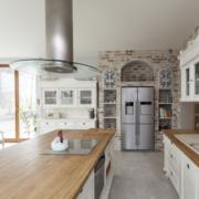 大户型精致美式风格家庭厨房装修效果图