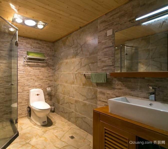 2016小户型朴素卫生间装修设计效果图