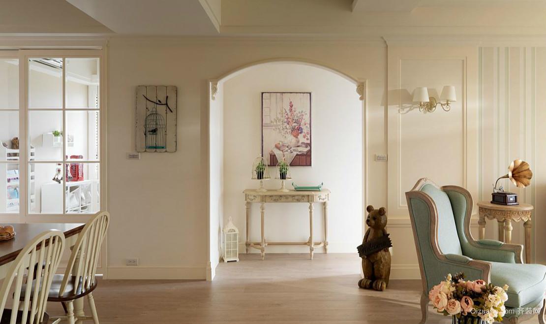 三居室古典风格玄关设计效果图