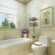 自然轻快的小卫生间装修设计效果图