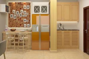 朴素一室一厅玄关鞋柜设计效果图