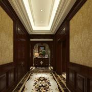 豪华大型别墅美式风格玄关设计效果图