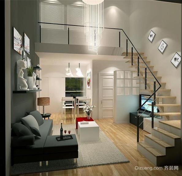 欧式风格现代复式楼室内装修效果图