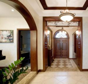 别墅型精致美式风格玄关装修效果图鉴赏