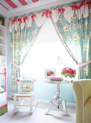 纯情时代欧式风格小户型窗帘装修效果图