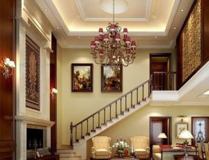 跃层欧式风格房子室内装修效果图