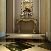 古典精致的大户型玄关设计效果图