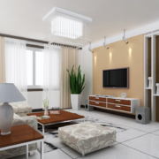 现代欧式大户型客厅电视背景墙装修效果图