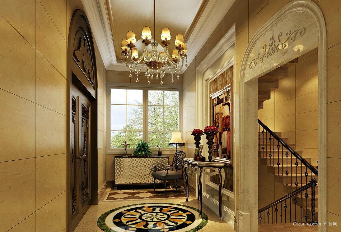 豪华复式楼欧式风格玄关设计效果图