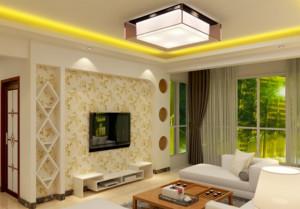 欧式大户型硅藻泥电视背景墙装修效果图