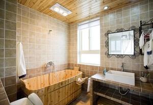 88平米家居自然卫生间装修设计效果图