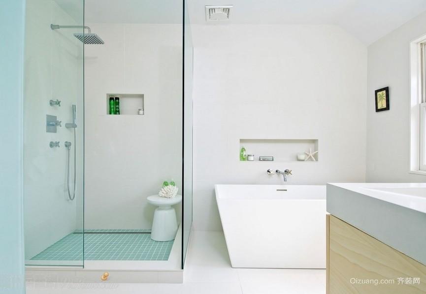 明亮简约小户型卫生间装修设计效果图