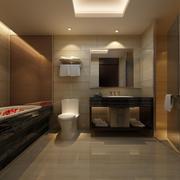 深色系现代小卫生间装修设计效果图