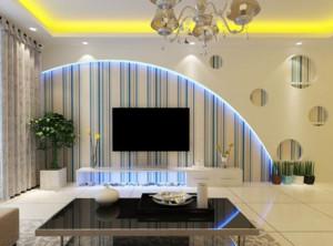 经典暖色调欧式大户型客厅装修效果图欣赏