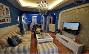 二居室地中海风格电视背景墙效果图片欣赏