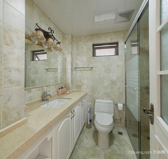 浅色调两室一厅卫生间装修设计效果图