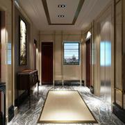 100㎡家居新古典风格玄关设计效果图