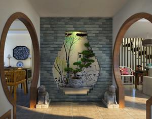 特色鲜明的中式风格玄关设计效果图