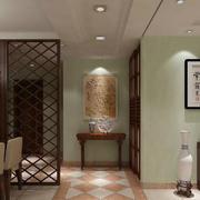 新中式风格82平米家居玄关设计效果图