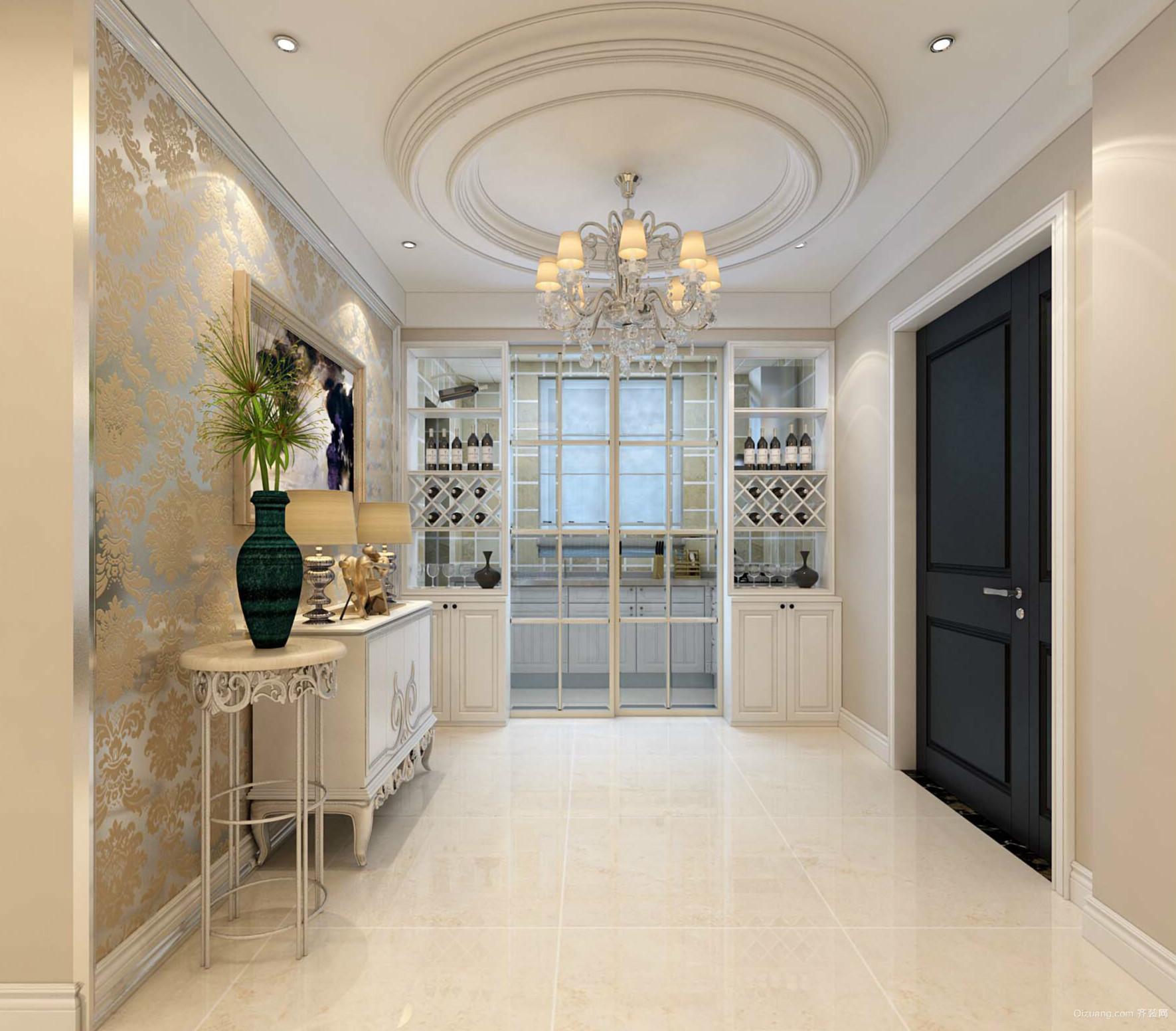 122平米家居简欧风格玄关设计效果图