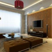70平米小户型欧式电视墙背景装修效果图