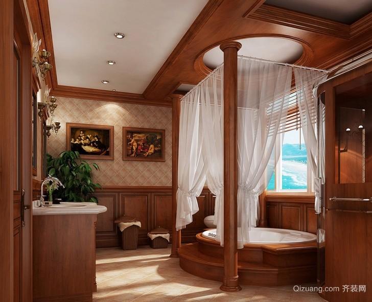 美式豪华大别墅卫生间装修设计效果图