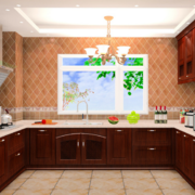 2016传统欧式别墅型厨房装修效果图