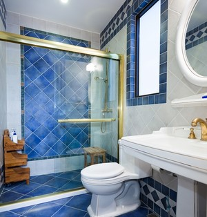 地中海风格小户型卫生间装修设计效果图