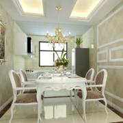 2016别墅型现代简欧风格餐厅装修效果图