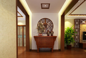 两室一厅中式儒雅范儿玄关设计效果图