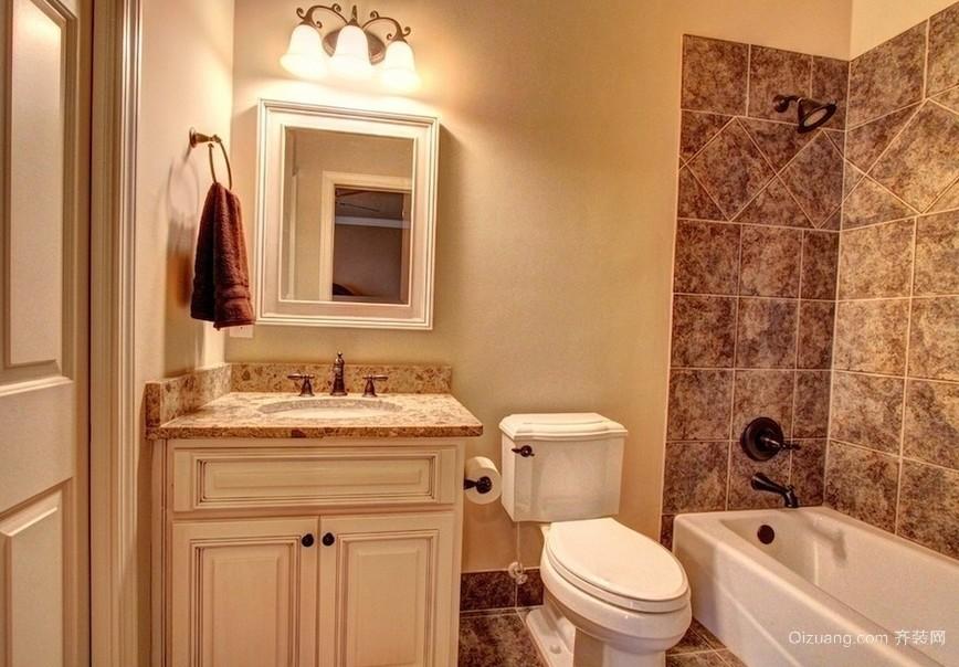 小户型卫生间洗手台装修设计效果图