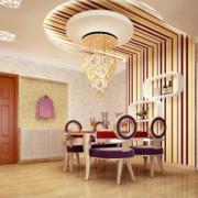 2016欧式小户型餐厅背景墙装修效果图