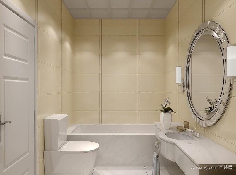 都市简约浅色调卫生间装修设计效果图