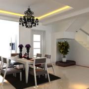 别墅型精美的现代简约餐厅装修效果图