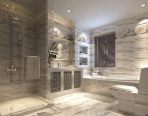 70平米欧式风格唯美小卫生间装修效果图
