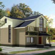 2016现代唯美的二层别墅外观设计效果图
