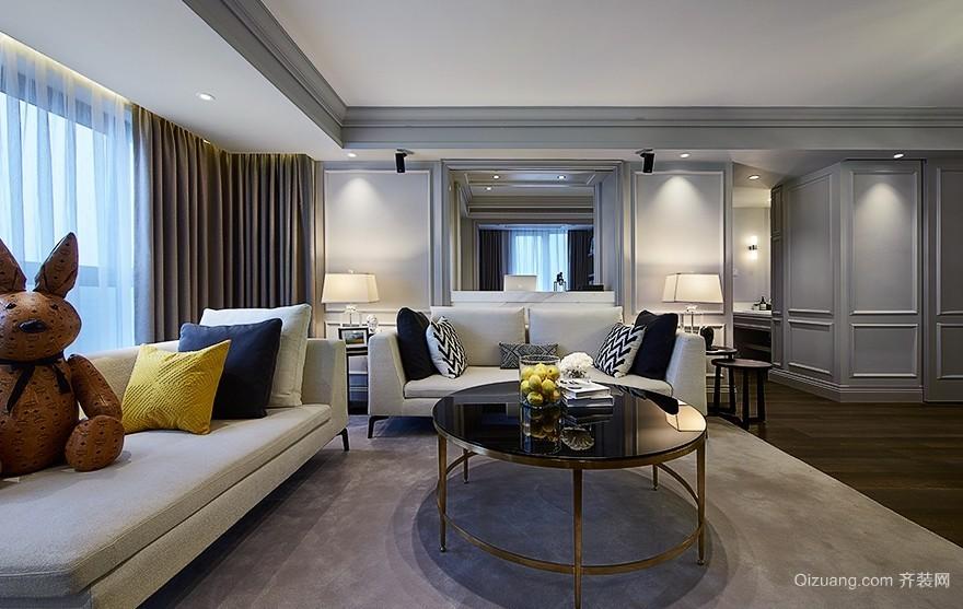 高贵精致的大户型客厅装修效果图欣赏
