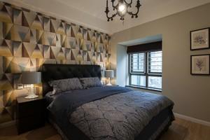 大户型精致3D型卧室床头背景墙效果图