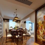 2016奢华大别墅美式餐厅设计装修效果图
