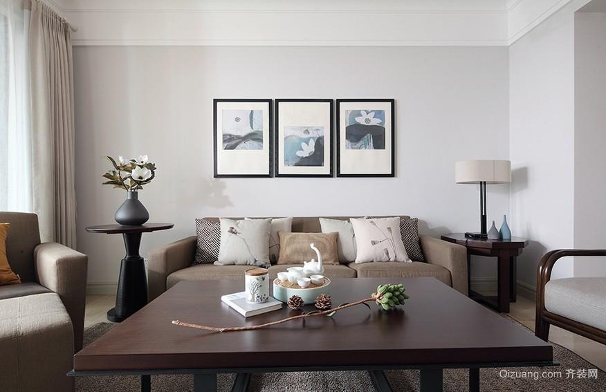 78平米朴素简约的客厅装修效果图欣赏