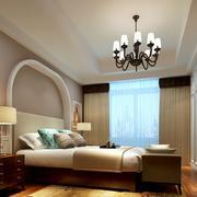 复式楼古典美式风格卧室装修设计效果图