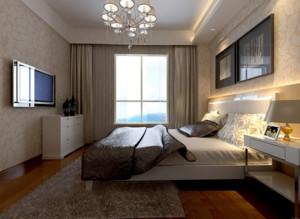小户型欧式卧室床头背景墙装修效果图鉴赏