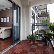 高端公寓现代风小阳台设计装修实景图