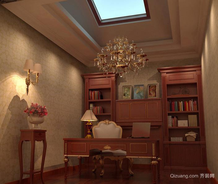 小户型欧式风格书房书柜设计装修效果图鉴赏