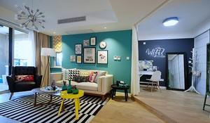 单身小公寓轻快小客厅装修效果图欣赏