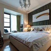 两居室新房典雅卧室床头背景墙效果图