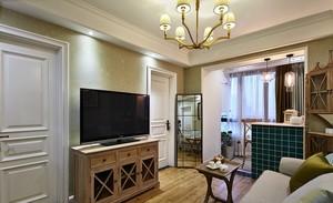 70平米浪漫美式风格客厅装修效果图欣赏