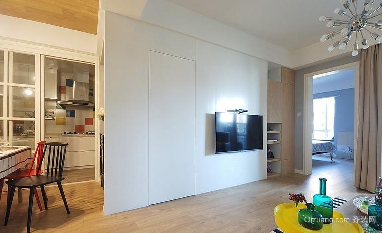 宜家67平米小户型客厅电视背景墙效果图