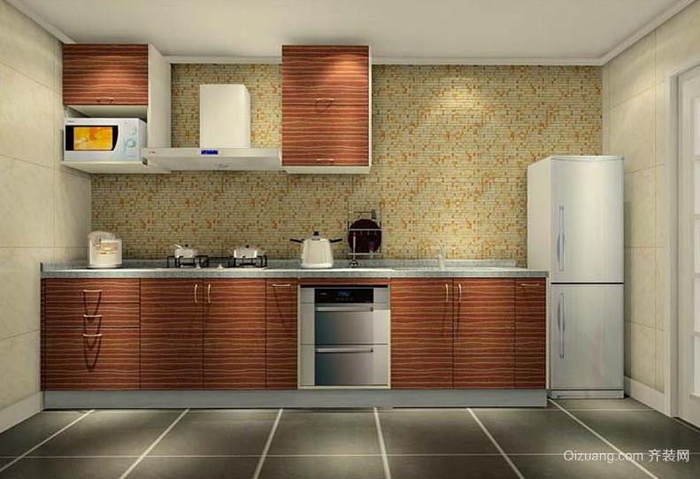 2016现代家庭厨房装修设计效果图实例